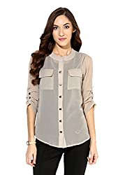 Raindrop's Women's Shirt(980D-Light Grey-L)
