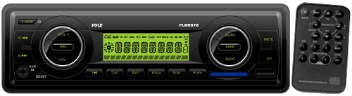 Pyle PLMR87WB AM/FM-MPX IN-Dash Marine MP3 Player/Weatherband/USB & SD Card Function (Black)