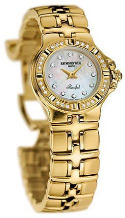 Raymond Weil Parsifal 18k Gold Diamond Womens Watch MOP 10280-GS-97081
