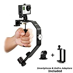 Movo Photo VS01-SP Handheld Video Stabilizer System with Counterweights for GoPro HERO, HERO2, HERO3, HERO3+, HERO4 and Apple iPhone 4, 4S, 5, 5S, 6, Samsung Galaxy S3, S4, S5, S6 Android Smartphones