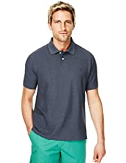 Blue Harbour Cotton Rich Piqué Polo Shirt