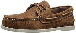 Tommy Hilfiger Men\'s Bowman4 Boat Shoe, Medium Natural Leather, 12 M US