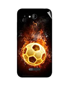 Miicreations Mobile Skin Sticker For HTC Desire 616,Football
