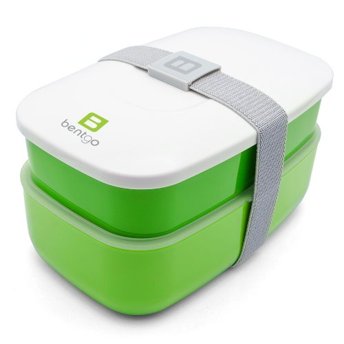 Bentgo All-In-One Stackable Lunch/Bento Box, Green front-26600