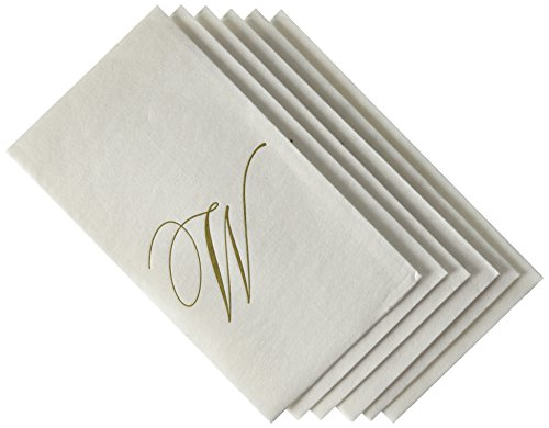 entertaining-with-caspari-white-pearl-paper-linen-guest-towels-monogram-initial-w-pack-of-24