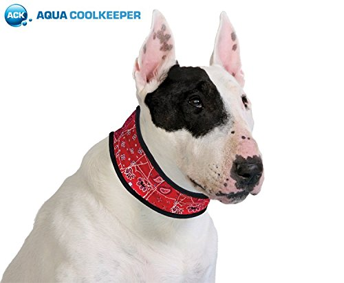 Aqua-Coolkeeper, KühlHALSBAND Red Western - Rot - Für Hunde, XXXL ...