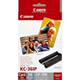 "Canon 7739A001|KC-36 IP Inking Kit + InkJet-Papier Credit Card, 36 Seiten f�r Canon Card Photo PTR CP 100 kompatibel zu Selphy CP 600, Card Photo Printer CP 220, Selphy CP 220, Selphy CP 510, Selphy CP 710, Card Photo Printer CP 330, Card Photo Printer CP 100, Card Photo Printer CP 200, Card Photo Printer CP 300, Selphy CP 330, Selphy CP 790, Selphy CP 760, Selphy CP 770, Selphy CP 720, Selphy CP 730, Selphy CP 810, Selphy CP 740, Selphy CP 750, Selphy CP 400, Selphy CP 500, Selphy CP 780, Selphvon ""Canon"""