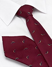 Limited Collection Bluebird & Spotted Tie with Handkerchief