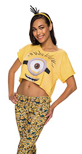 Rubie's Costume Co Women's Minion Costume Crop Top