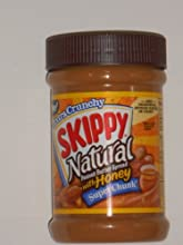 Skippy Natural Peanut Butter Spread with Honey Super Chunk Pack of 6