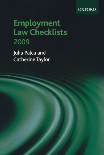 Employment Law Checklists 2008/09