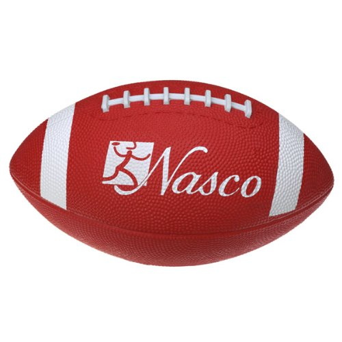 Nasco PE02689E Junior Size 3 Football, Red, Grades 5+
