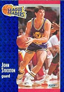 John Stockton Basketball Card Utah Jazz 1991 Fleer 221