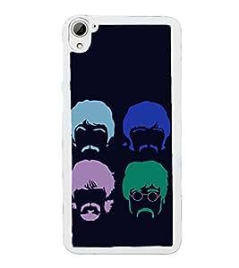 Faces 2D Hard Polycarbonate Designer Back Case Cover for HTC Desire 826 Dual Sim