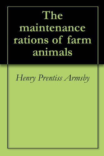 The Maintenance Rations Of Farm Animals