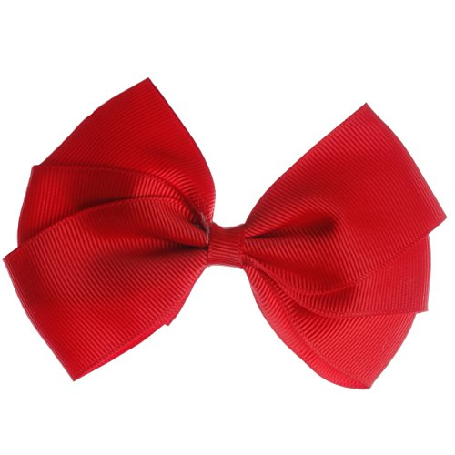 Emmalise Women's Girls Kids Boutique Hair Bows Grosgrain Ribbon Clip Pins (One Size, CH Red) (Ch Red Women compare prices)