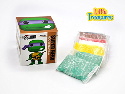 Turtle ninja Clay modeling and sculpting DIY play-set - create your favorite cartoon super-hero characters with molding play-dough kit - a fun arts and craft kid's artist toy project (Ninja Turtle Dough compare prices)