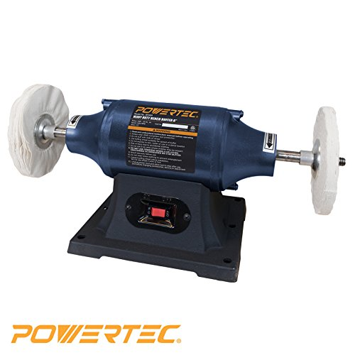 POWERTEC BF600 Heavy Duty Bench Buffer, 6-Inch (Grinder Buffer compare prices)