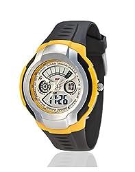 Yepme Mens Analog Digital Watch - Yellow/Brown