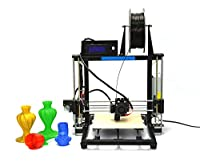 HICTOP Desktop 3D Printer [ Version] DIY 3D Printer Kits,All Metal Frame High Accuracy CNC Self-assembly, Aluminum Frame Structure, Acrylic Build Platform, Tridimensional 270*200*190cm Printing Size, Works with PLA+ABS [SOLD ONLY BY HIC Technology](Black)