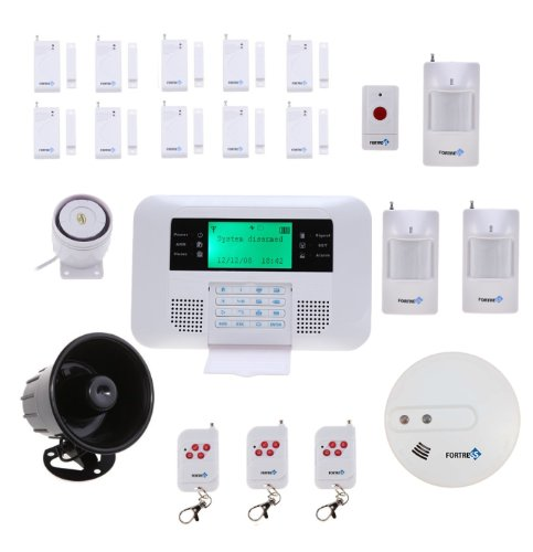 Wireless Cellular GSM Home Security Alarm System Auto Dial No Monthly Fees DIY