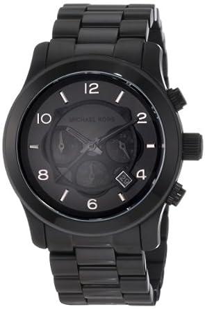 Michael Kors Watches Michael Kors Men's Black bracelet Chronograph Sport (Black)