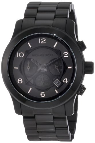 Michael Kors MK8157 45mm Black Steel Bracelet & Case Mineral Men's Watch