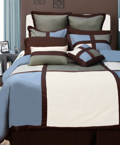 Dynasty 8 Piece Cotton Comforter Set Size: King