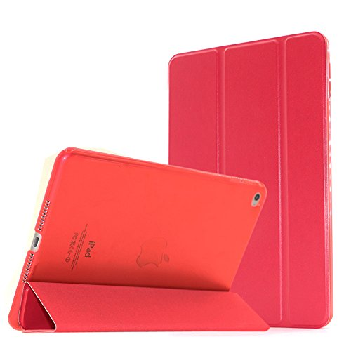 iPad Mini 4 Case - Samgg Ultra Slim Lightweight Smart-shell Stand Cover Case With Auto Wake / Sleep for Apple iPad Mini 4 (2015 edition) (Passionate Red) (3 8 Inch Flat Iron compare prices)