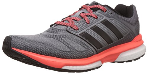 adidas Men's Revenge Boost 2 M Techfit Grey, Black and Red Running Shoes - 9 UK  available at amazon for Rs.9324
