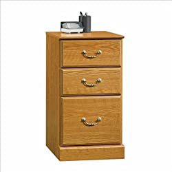 Orchard Hills 3 Drawer Pedestal File Cabinet in Oak Finish