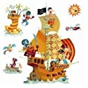 Pirates Ship Re Positionable Wall Stickers
