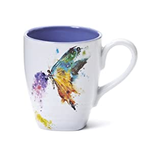 Dean Crouser Kaleidoscope Butterfly Stoneware Mug, 16 Ounce by Dean Crouser Collection