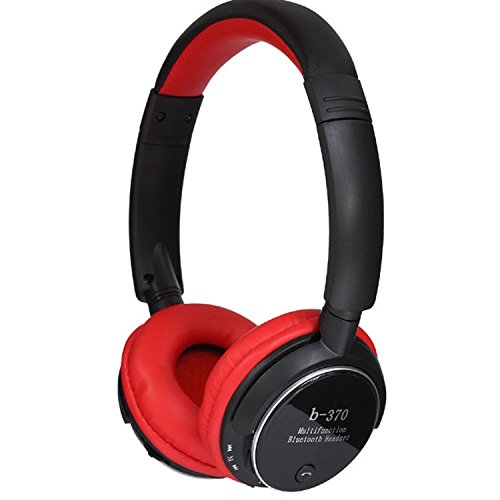 Aokdis Hot Selling B370 Wireless Bluetooth Stereo Sport Card Music Headset Headphone (Red)