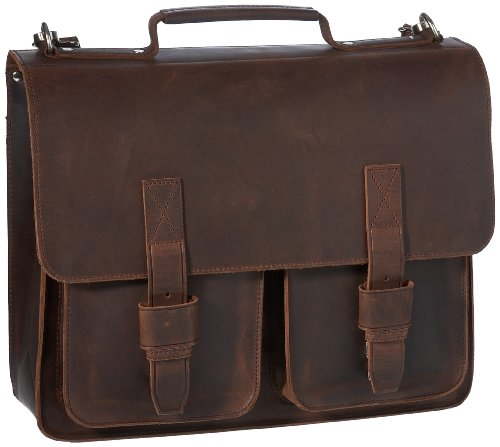 Leonhard Heyden Men's LH8910-003 Salisbury Briefcase Satchel Brown Small