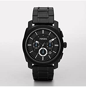 Fossil Men's FS4552 Black Stainless Steel Bracelet Black Analog Dial Chronograph Watch