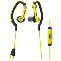 Audio-Technica ATH-CKP200iS SonicSport In-ear Headphones for Smartphones (Yellow)