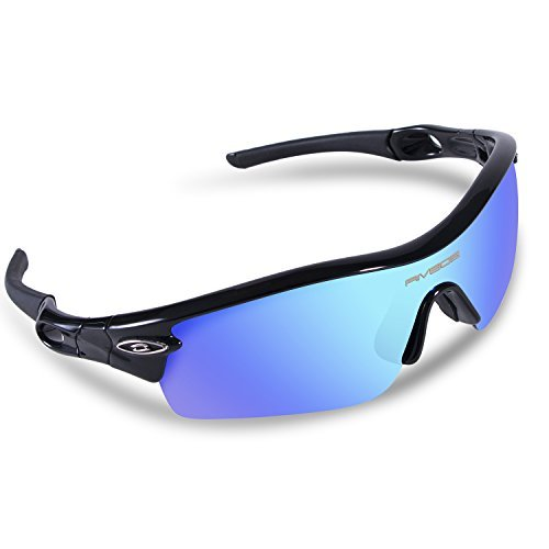 rivbos-805-polarized-sports-sunglasses-glasses-with-5-interchangeable-lenses-for-cyclingtr-black-ice