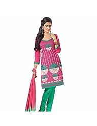 Ashika Printed Bollywood Designer Salwar Suit Dupatta (Unstitched) Dress Material (8214)