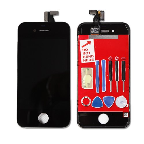 Black Apple Iphone 4 16Gb 32Gb Full Completed Lcd Screen Display Digitizer Unit Free 9 Tools Included