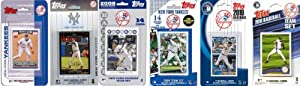 MLB New York Yankees 6 Different Licensed Trading Card Team Sets by C&I Collectables