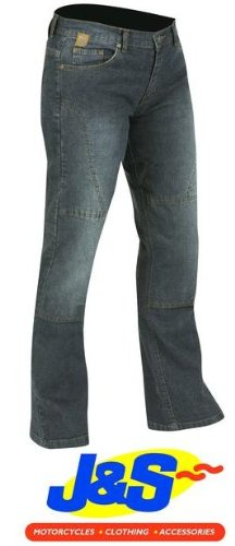Rouge Route red010 pour femme Coupe Bootcut Denim Kevlar Moto Jeans pantalon J & S