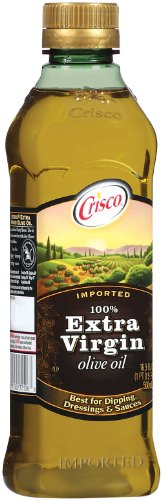 Crisco 100% Extra Virgin Olive Oil, 16.9 Ounce (Pack of 12) by Crisco