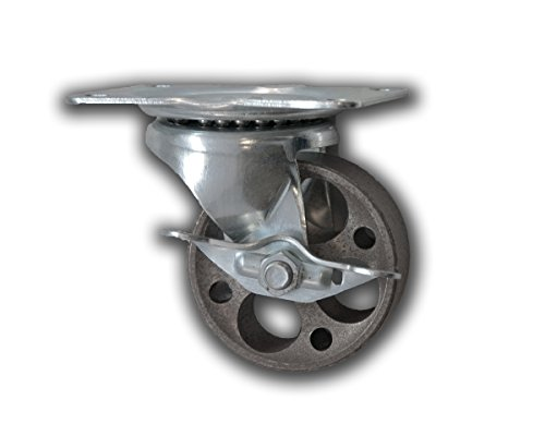 3-x-1-1-4-swivel-iron-caster-with-brake-300-capacity