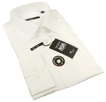Herren Hemd Slim Fit schwarz (extra langer arm 72cm) 100% Baumwolle TAILLIERT Kentkragen 39
