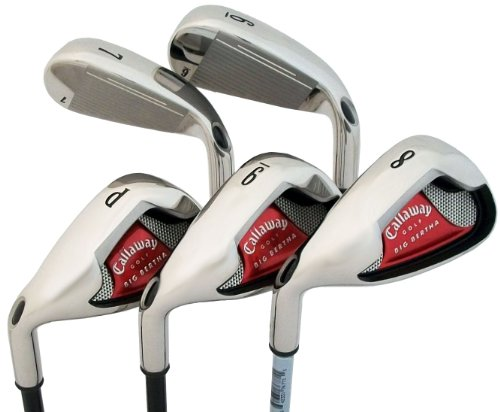 Callaway Big Bertha 08 5-Club Iron Set (6-Iron to Pitching Wedge, Left Hand, Steel, Uniflex)