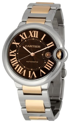 Cartier Men's W6920032 Ballon Bleu Chocolate Brown Dial Watch