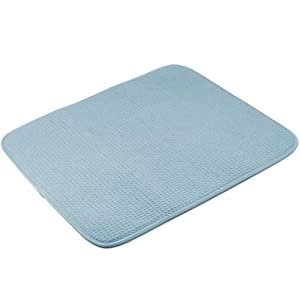 Amazon.com - Envision Home Dish Drying Mat - Coastal Blue