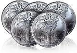 2016年製造 アメリカンイーグル銀貨1オンス5枚セット(41mmクリアーケース付き)