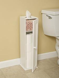 free standing white toilet paper bathroom